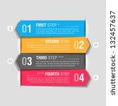 infographics design template.... | Shutterstock .eps vector #132457637
