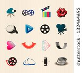 movie icon set  vector...