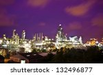 petrochemical plant in night...   Shutterstock . vector #132496877