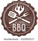 vintage style bbq barbecue menu ... | Shutterstock .eps vector #132503117
