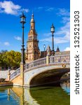 spanish square in sevilla ... | Shutterstock . vector #132521303