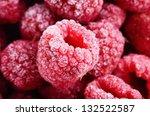 Red Frozen Raspberries...