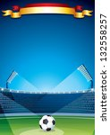 Soccer Stadium Background. Vector Design Template - stock vector