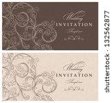 wedding invitation cards... | Shutterstock .eps vector #132562877