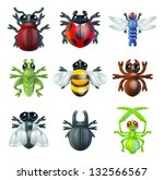 a series set of colourful... | Shutterstock .eps vector #132566567