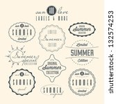 set of summer related vintage... | Shutterstock .eps vector #132574253
