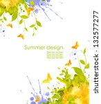 colorful hand drawn design from ... | Shutterstock . vector #132577277