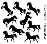 Set Of A Moving Horse...