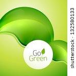 green leaf modern concept.... | Shutterstock .eps vector #132580133