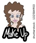 make up sticker | Shutterstock .eps vector #132584903