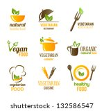 vegetarian food icons | Shutterstock .eps vector #132586547