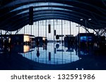 Airport lobby - stock photo