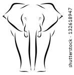 elephant   Shutterstock .eps vector #132618947