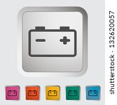 Car battery. Single icon. Vector illustration.