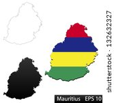 maps of mauritius  3... | Shutterstock .eps vector #132632327