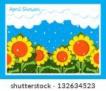 april showers | Shutterstock . vector #132634523