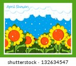 april showers | Shutterstock . vector #132634547