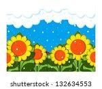 april showers | Shutterstock . vector #132634553