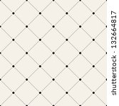 Vector seamless pattern. Modern stylish texture. Repeating geometric tiles with dotted rhombus | Shutterstock vector #132664817