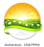 summer banner | Shutterstock .eps vector #132679943