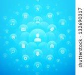 social media icons and light... | Shutterstock .eps vector #132690317