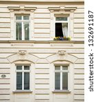 classical building facade with... | Shutterstock . vector #132691187