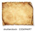 Old Paper Sheet  Vintage Aged...
