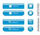 blue home and search web buttons | Shutterstock .eps vector #132717923