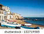 Small village of Costa Brava. Calella de Palafrugell, Girona. - stock photo