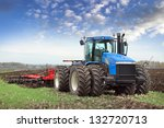 Agricultural Work Plowing Land...