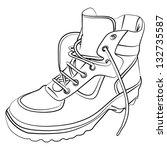 winter boot | Shutterstock .eps vector #132735587