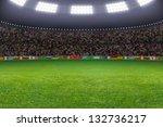 green soccer stadium ... | Shutterstock . vector #132736217