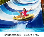 child with mother on water... | Shutterstock . vector #132754757