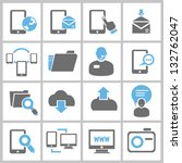 web icons  internet icons set ... | Shutterstock .eps vector #132762047