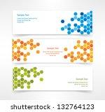 vector set of three header... | Shutterstock .eps vector #132764123
