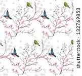 orient style flower seamless... | Shutterstock .eps vector #132769853