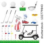 set golf icons vector...   Shutterstock .eps vector #132779843