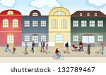 people walking through the city.... | Shutterstock . vector #132789467