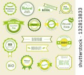 set of labels  logos and... | Shutterstock . vector #132813833