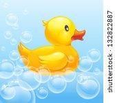 Rubber Duck In Blue Water. 10eps