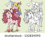 vector illustration  princess... | Shutterstock .eps vector #132834593