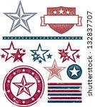 vintage patriotic stars and... | Shutterstock .eps vector #132837707
