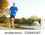 full length of a mature man... | Shutterstock . vector #132843167