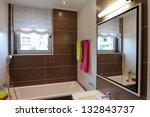 modern house bathroom interior | Shutterstock . vector #132843737