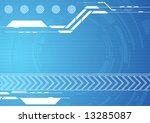 editable abstract vector techno ...