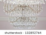 Background of hanging chandeliers - stock photo