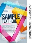abstract poster. vector | Shutterstock .eps vector #132856997