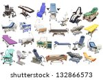 medical beds and chairs under... | Shutterstock . vector #132866573