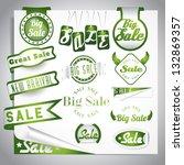 green bio sale labels set | Shutterstock .eps vector #132869357