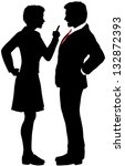 business man and woman fight... | Shutterstock .eps vector #132872393